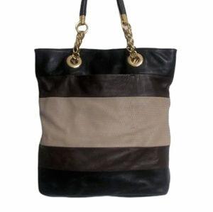 Cynthia Rowley Black & Brown Leather Tote